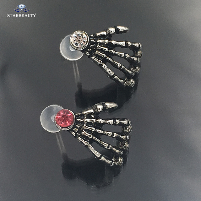 1Pc Punk Skull PTFE Bioplast Piercing Crystal Morne Tragus Labret Ring Ear Stud Bars Kit lip Piercing Sexy Body Piercing Jewelry