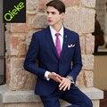 2017 new arrivals latest coat pant designs spring 70%wool high quality brand jacket pant 2pcs set suits black blue wedding groom