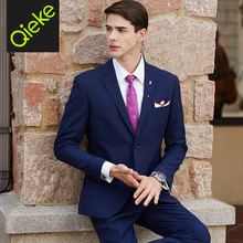 2017 new arrivals latest coat pant designs spring 70%wool high quality brand jacket pant 2pcs set suits black blue wedding groom