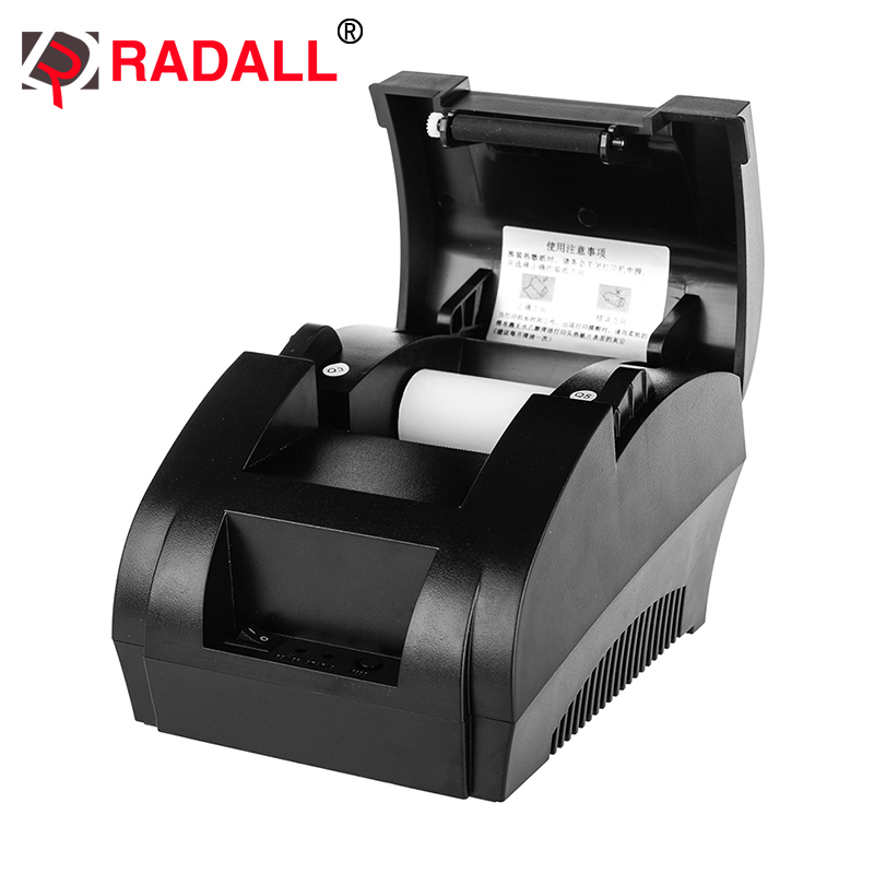 RD-5890K 58mm Thermal Receipt Printer Portabel tiket POS Murah Tertanam 58mm USB Paper Roll Untuk Restoran dan Supermarket