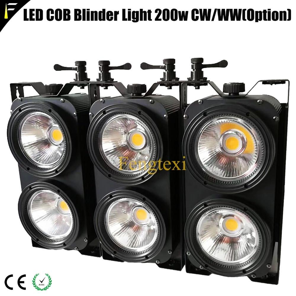 3 Pieces COB Blinder Light 200w 3200k 5600k Adjustable Warm/Cold Color Blinder LED Par Can Wash Opera Concert Stage Light Venue litewinsune cw ww 100w cob led par can lighting 3200k 5600k wash stage lighting 6pcs