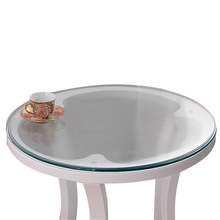 kitchen home anti scald floral oil proof soft glass crystal Dining waterproof round PVC mat table cloth cover placemat