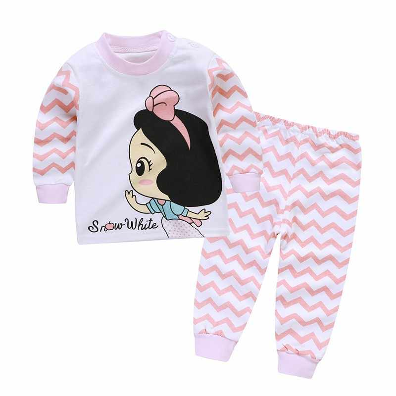 Комплект детской одежды, Осенние пижамные комплекты, Детская футболка для девочек, штаны, костюм, комплект одежды для новорожденных мальчиков, костюмы