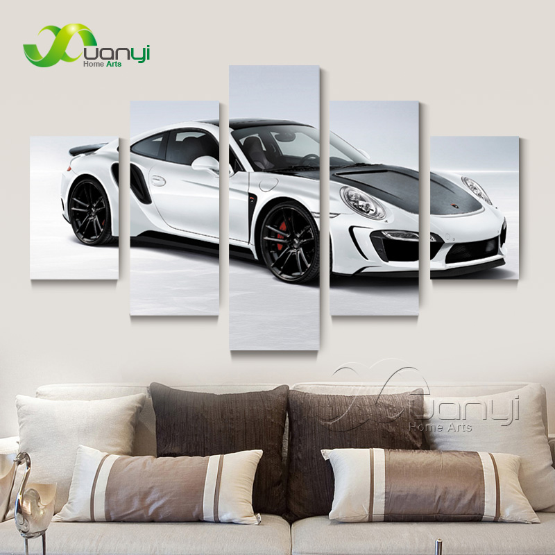 Современный роскошный автомобиль холст стены картина маслом домашнего Книги по искусству decortion модульная настенные панно для Гостиная HD бе... ...