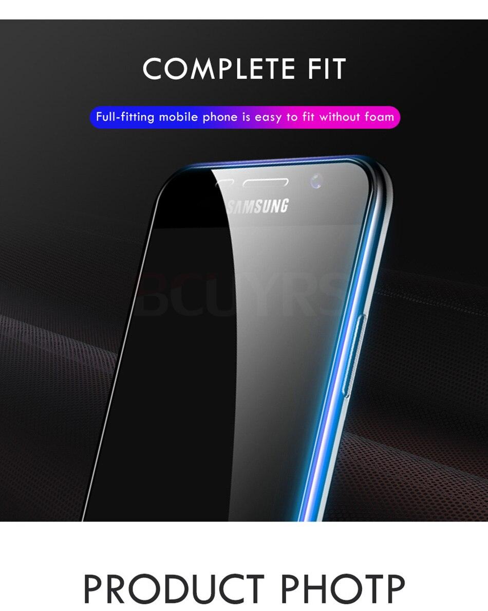 3 sztuk folia na wyświetlacz 9H 2.5D szkło hartowane dla Samsung Galaxy A7 A9 2018 J6 A6 A8 J4 Plus szkło ochronne do Samsung A5 2017 13