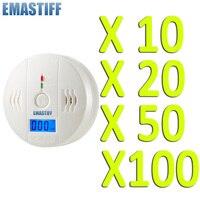 Wholesale 10PC High Sensitive LCD Digital Backlight Carbon Monoxide Alarm Detector Tester CO Gas Sensor Alarm