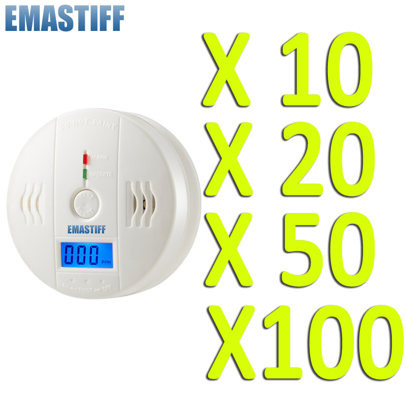 Wholesale NEW High Sensitive LCD Digital Backlight Carbon Monoxide Alarm Detector Tester CO Gas Sensor Alarm Home Security 85dB sensitive new baby 54 шт