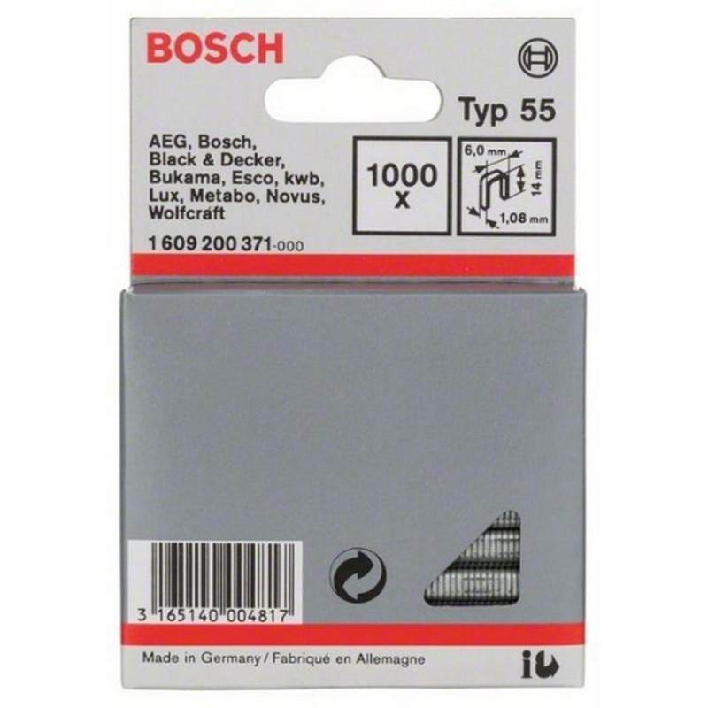 BOSCH 1609200371 Staple Type 55 6,0X1,08x14mm 1000uds