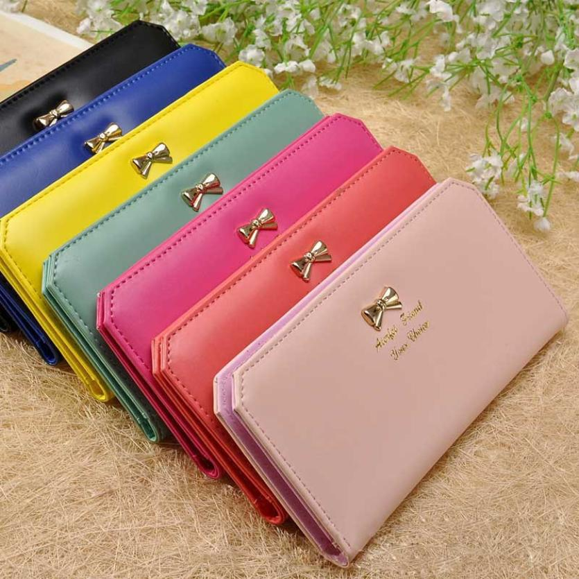 2017 Fashion Women Wallets Leather Long Portable Ladies Wallet Clutch Money Bag Women Purse Wallet Monedero Mujer Carteras Mujer
