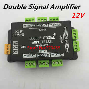 LED כפול אות מגבר (מהדר) בקר באמצעות SPI פלט אות 8 בקרת קבוצת מגבר עבור ws2811 5050 רצועה