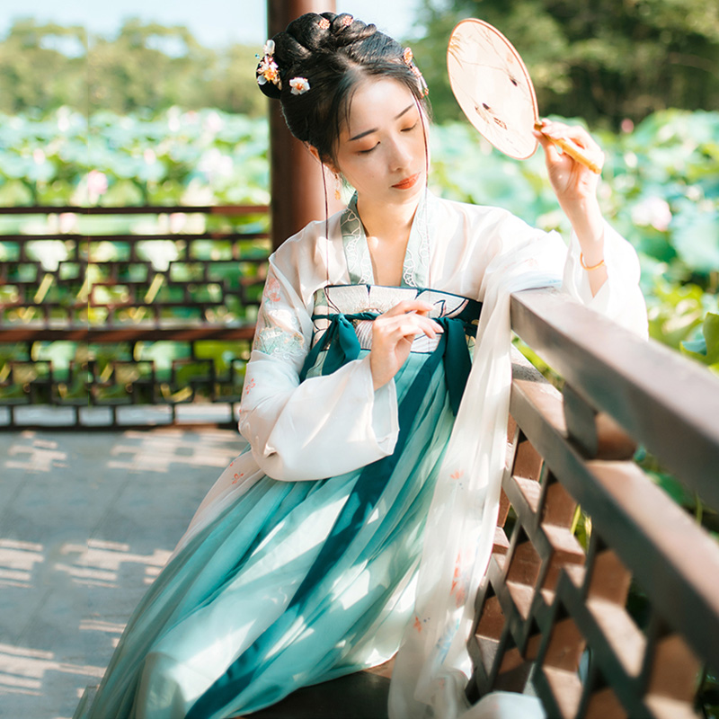 Traditional Chinese Dance Costume Women Green Hanfu Singers Stage Wear Oriental Performance Clothing Folk Festival Outfit DC1802