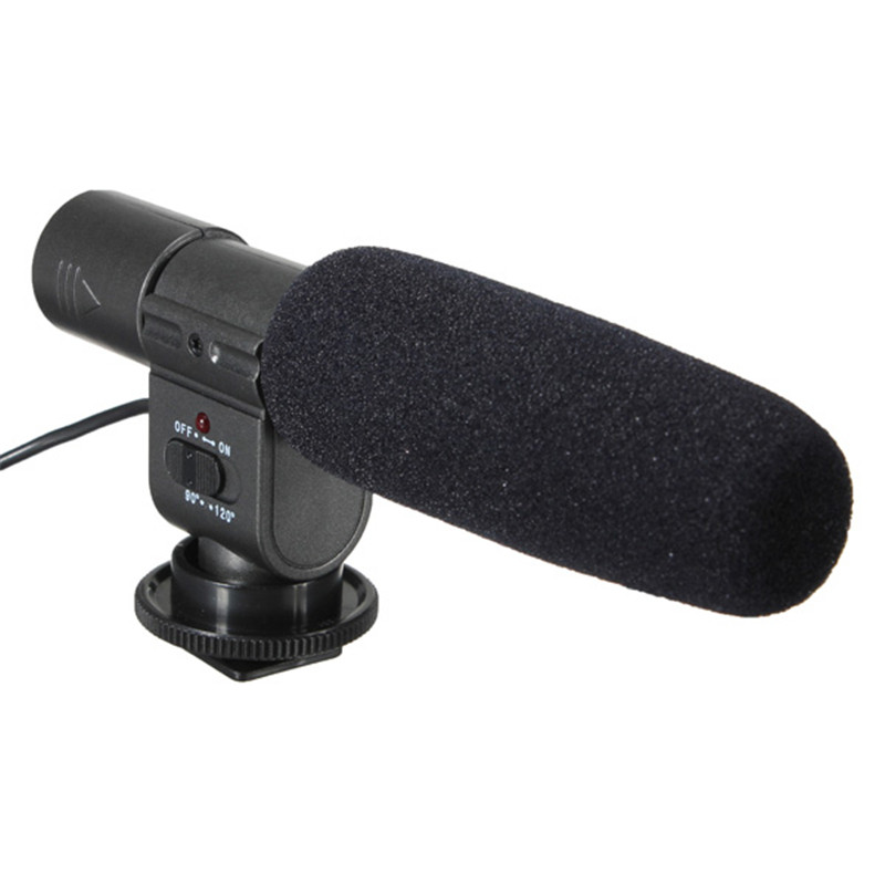 SG-108 DV Stereo Shotgun Microphone For Canon For Nikon For Pentax For Olympus For Panasonic DSLR and Camcorder DV