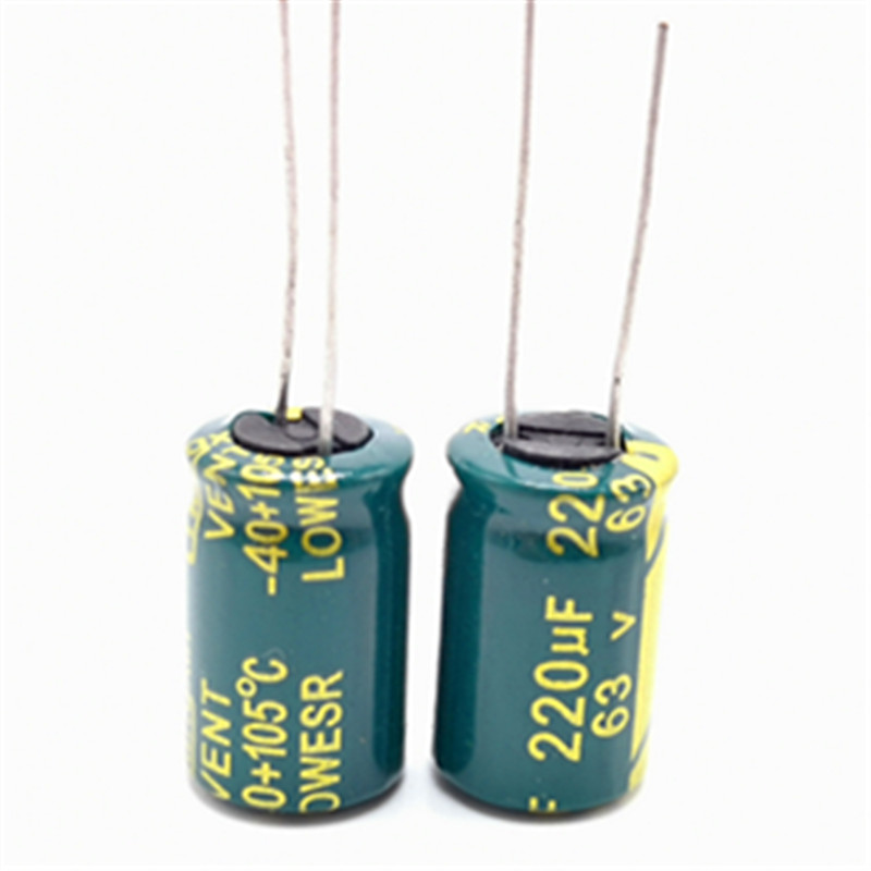 <font><b>63V</b></font> <font><b>220UF</b></font> 10*17 high frequency low impedance aluminum electrolytic capacitor <font><b>220uf</b></font> <font><b>63V</b></font> 20% image