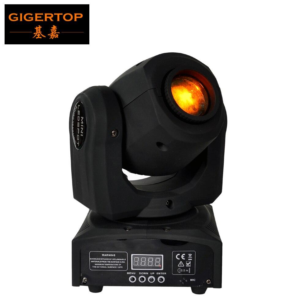 Professionnel américain DJ scène lumière CREE 10 W Led poche tête mobile Spot LCD affichage rotatif couleur Gobo roue mise au point manuelle