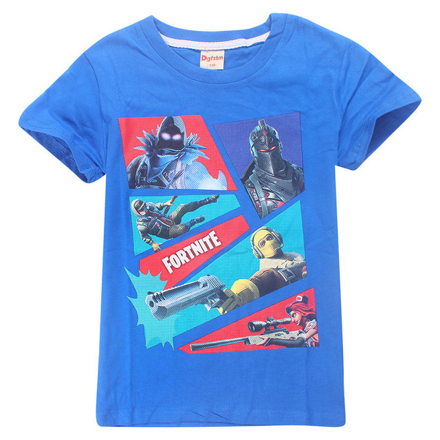 Fortnight Game T Shirt For Boy Girl T-shirts Teenage Kid Cotton Boutique Youth Tee Battle Royale Child Top Cloth Teen Big 8 12Y 4