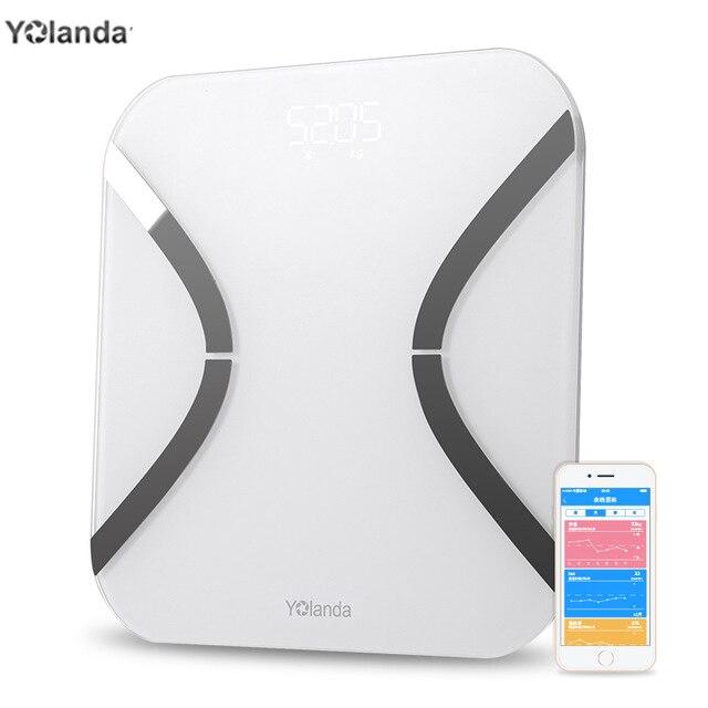 Индекс тела 32 Белый Иоланда Ми ni умные весы бытовые цифровые вес Ми электронные напольные весы приложение с поддержкой Bluetooth