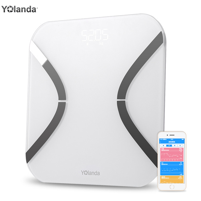 Body Index 32 White Yolanda mini Smart Scales Household Digital Weight Mi Scales Electronic FLOOR SCALES Support Bluetooth APP