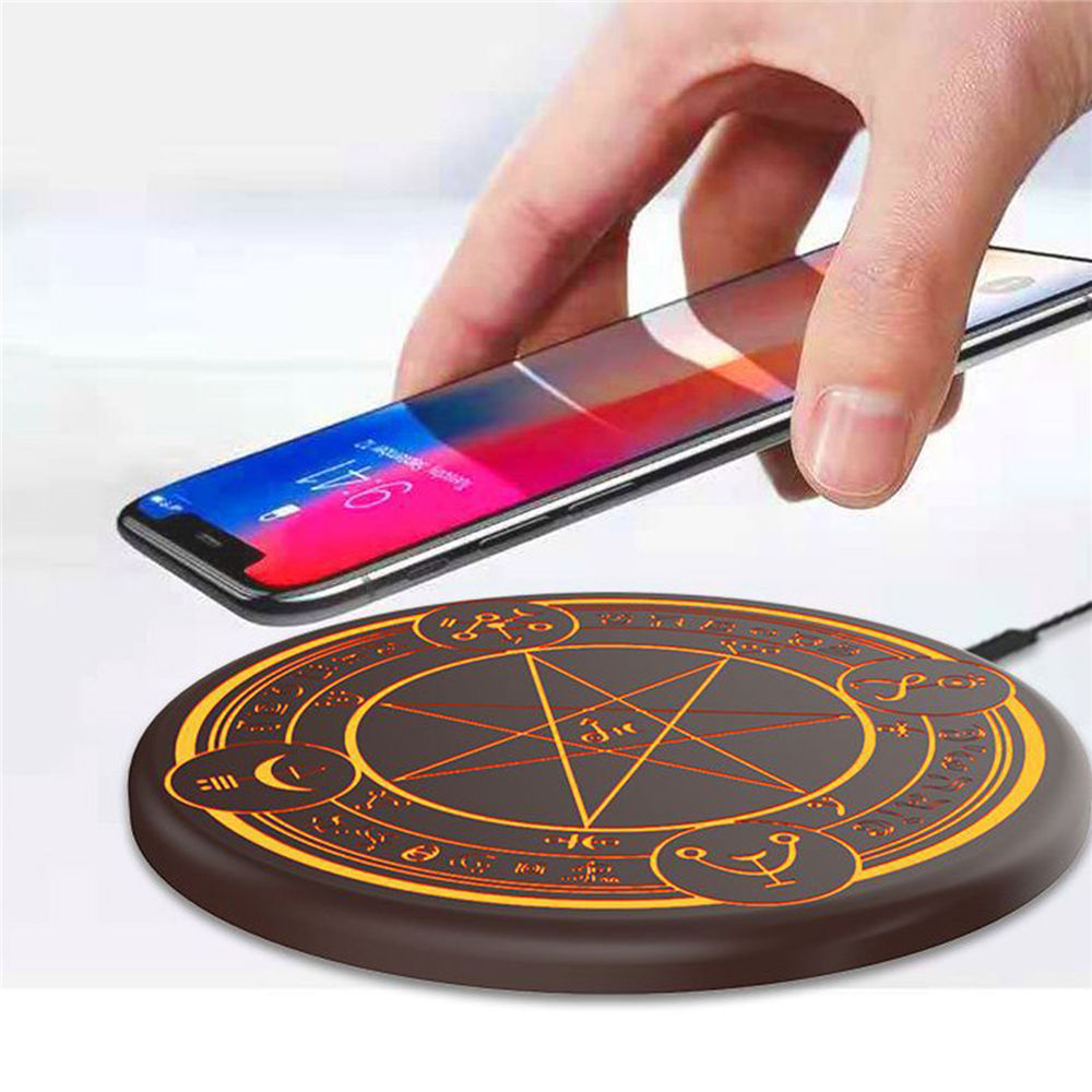 Magique Tableau Éclairage Sans Fil Chargeur 10 w Universel Qi Sans Fil Rapide De Charge Pad pour iPhone X Samsung S8 Huawei Compagnon 20 pro