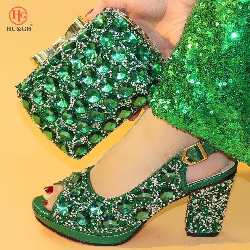 Ayakk.'ten Kadın Pompaları'de Yaz Yeni Gelen Yeşil Renk Nijeryalı ayakkabı ve çanta Eşleşen Ayakkabı ile Ayakkabı çanta seti Eşleşen İtalyan Ayakkabı ve çanta seti'da  Grup 1
