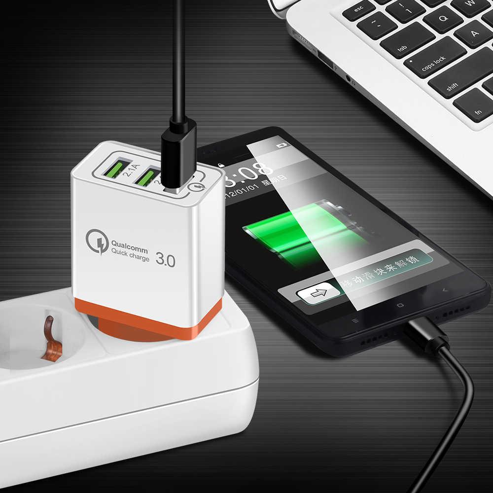 Универсальный 18 Вт USB Быстрая зарядка 3,0 5 V 3A для Iphone 7 8 ЕС нам Подключите мобильный телефон быстрое зарядное устройство для зарядки для Samsug s8 s9 huawei