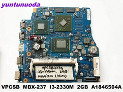 Original für SONY VPCSB laptop motherboard MBX-237 I3-2330M 2 gb A1846504A getestet gute freies verschiffen