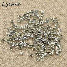Lychee 150 шт. 5# высокое качество u-образная металлическая молния фиксатор Сделай Сам швейная одежда для рукоделия штаны на молнии аксессуары