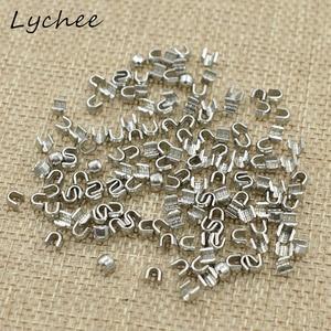 Lychee 150pcs 5# High Quality U Shaped Metal Zipper Up Stopper DIY Sewing Craft Clothes Pants Zipper Accessories