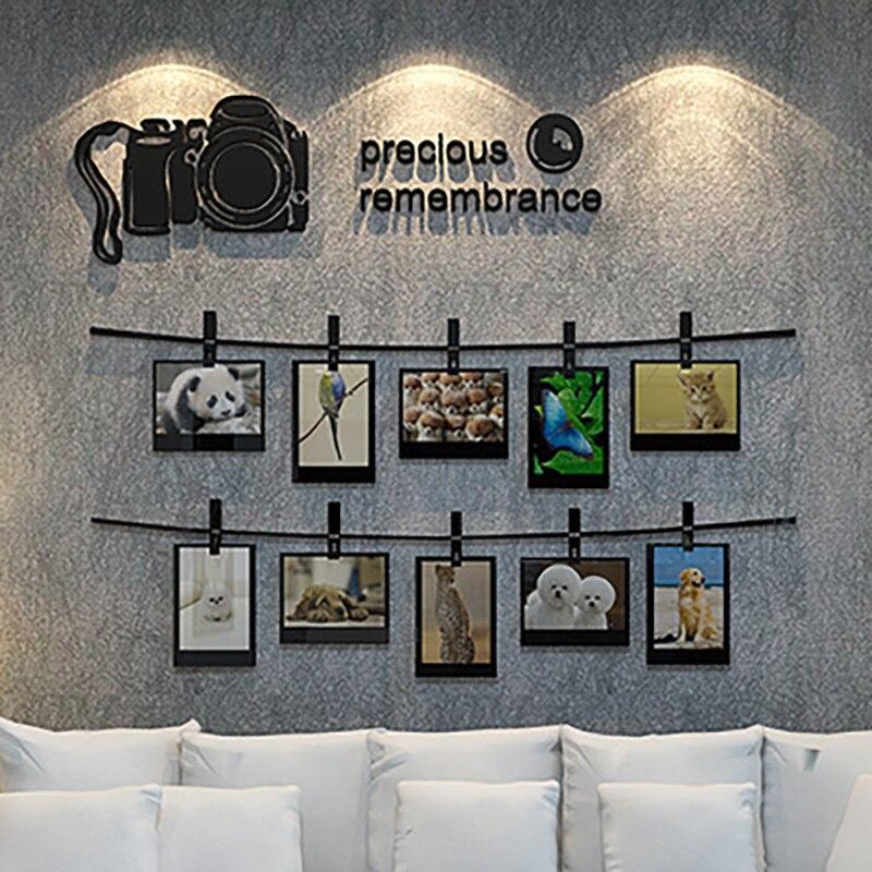 Romantische Kreative Wandaufkleber Dekorative Malerei 3d Acryl Fotowand Schlafzimmer Wohnzimmer Hintergrund Wand