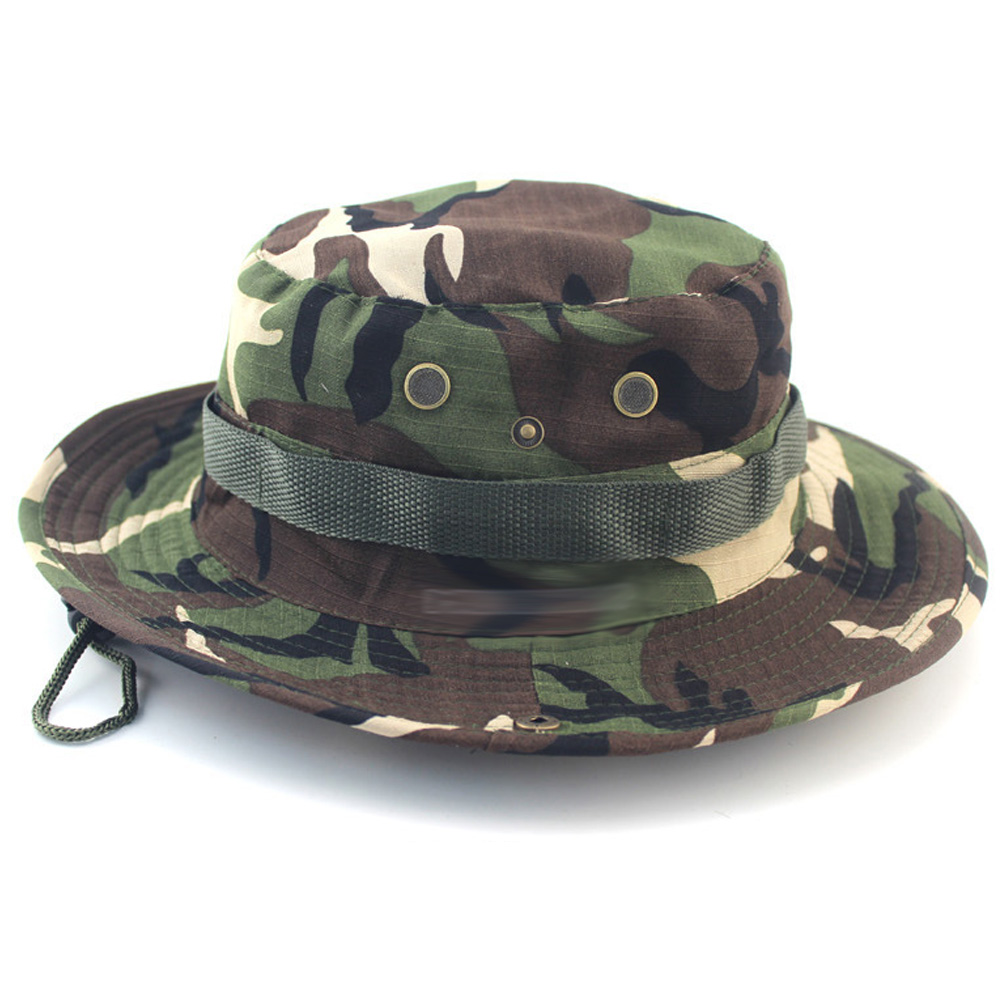Boonie Hats Tactical Airsoft Sniper Camouflage Tree Bucket Hat Accessories  Casual Military Army American Military Men Cap -in Bucket Hats from Apparel  ... 180b400eb3d7