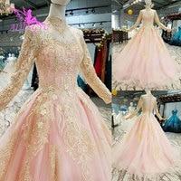 AIJINGYU Ball Gown Russian Wedding Dress White Gowns Dressings Train Plus Size For Bride Western Lace Bodice Weddingdress 2018