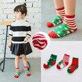 2016 новые зимние моды 3 pairs ребенок 1 до T детей мальчиков носки девушки Дети теплый толстый дети рождественские носки мультфильм хлопок