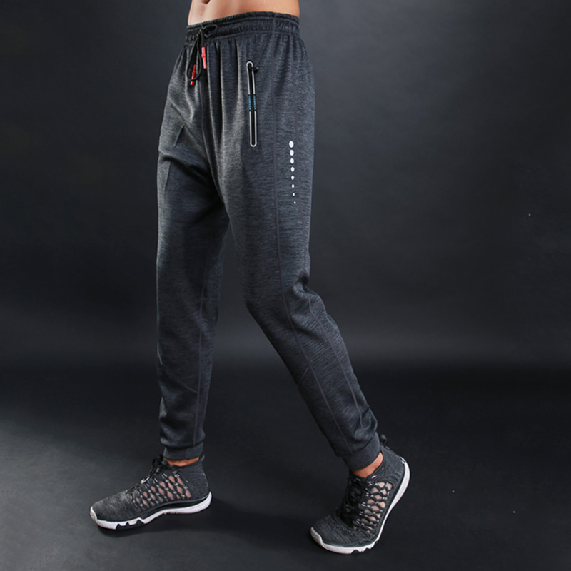 Training-Pants Pocket Sport-Trousers Men with Gyms Fitness High-Quality Zipper Loose