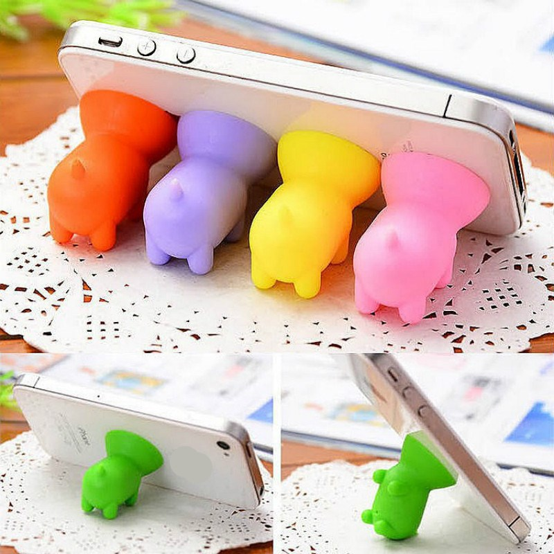 2pcs creative cartoon phone holder Silicone suction cup Fix the phone on the desk home organization home decorations supplies ...