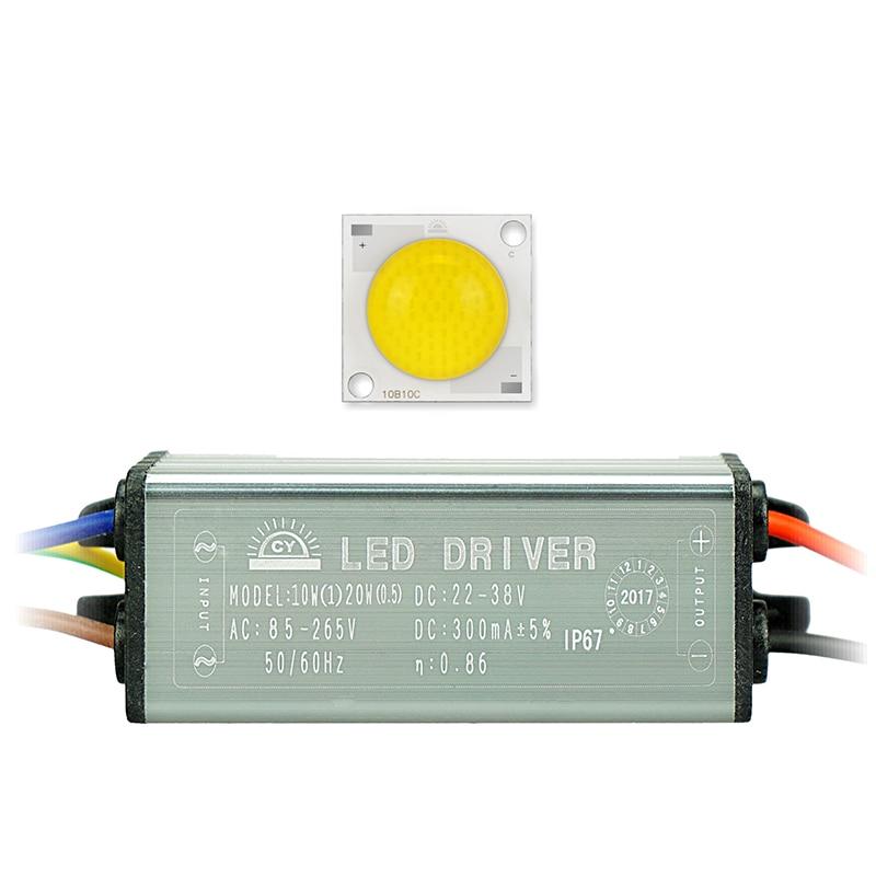 1 készlet COB Chip + meghajtó lámpa 20W 30W 50W LED-chip Chip - Világítási kiegészítők