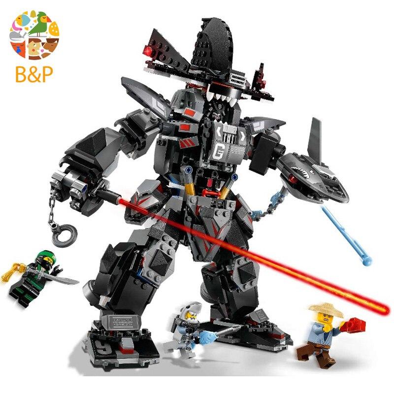 lepin Legoing Dark armor 70613 Ninja series 806pcs Building Blcok set Brick compatible 06060 Toys for children Gift