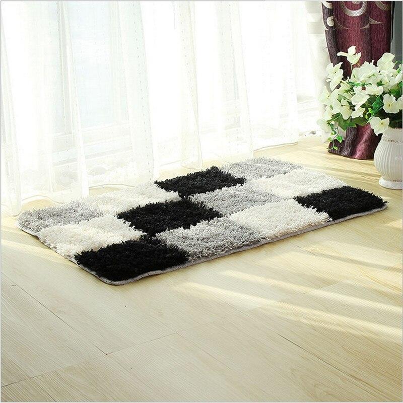 modern microfiber bathroom tub shower accent rug bath shaggy mat area antiskid flocking door rug mat super soft shaggy rugs mat - Shaggy Rug