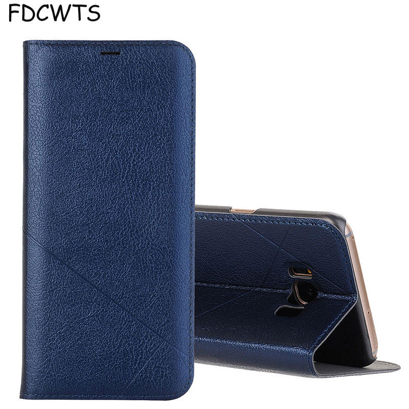 FDCWTS Leather Flip Cover Case For Samsung Galaxy S8 Case plus Protective Wallet Phone Cover for Galaxy S8 Plus Coque-in Flip Cases from Cellphones & Telecommunications