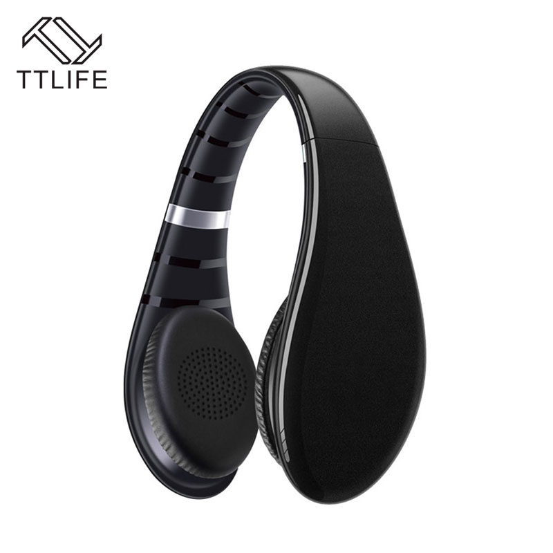 TTLIFE Portable Foldable Bluetooth 4.1+ EDR Headphone Fashion Wireless Stereo Headset with Microphone For Phone Samsung Xiaomi high quality 2 in 1 wireless bluetooth headphone foldable speaker column stereo headset portable bluetooth receiver for phone pc