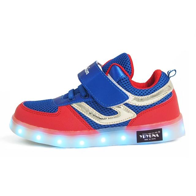 low priced 29787 bf694 US $18.87 |Eur26 37//Kinder licht Jungen Turnschuhe Schuhe mit Led  beleuchtung bis Glowing leucht Turnschuhe für Mädchen Schuhe Kinder ljlywz  in ...