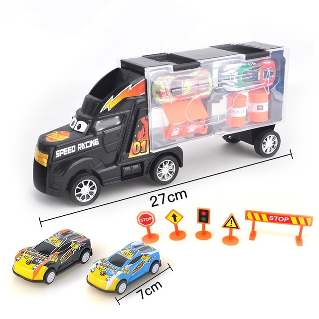 Pull Back Car Toy Vehicle Car Vehicle Truck Pull Back Mini Cars Kids Toys for Children Diecasts Toy Vehicles Birthday Gift 1:24
