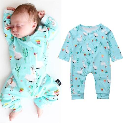 Newborn Infant Baby Boy Girl   Romper   long sleeve Deer Pajamas Sleepwear clothes