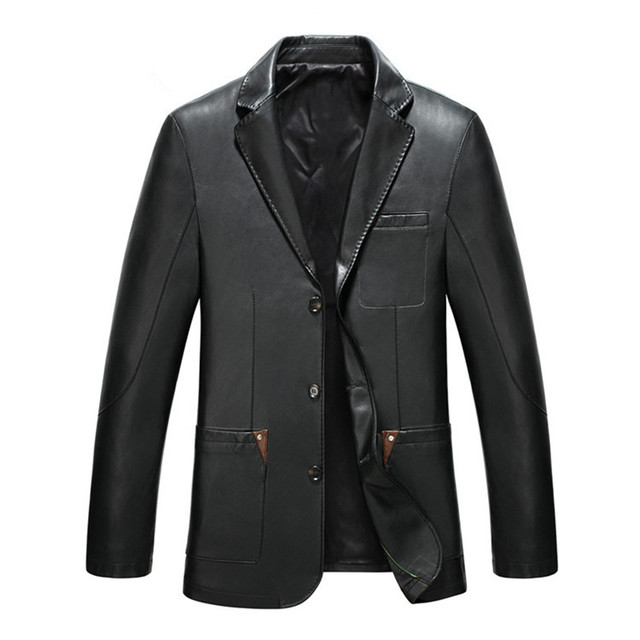 During the spring and autumn 2016 men leather jacket Suits brought the cultivate one's morality leisure leather coat