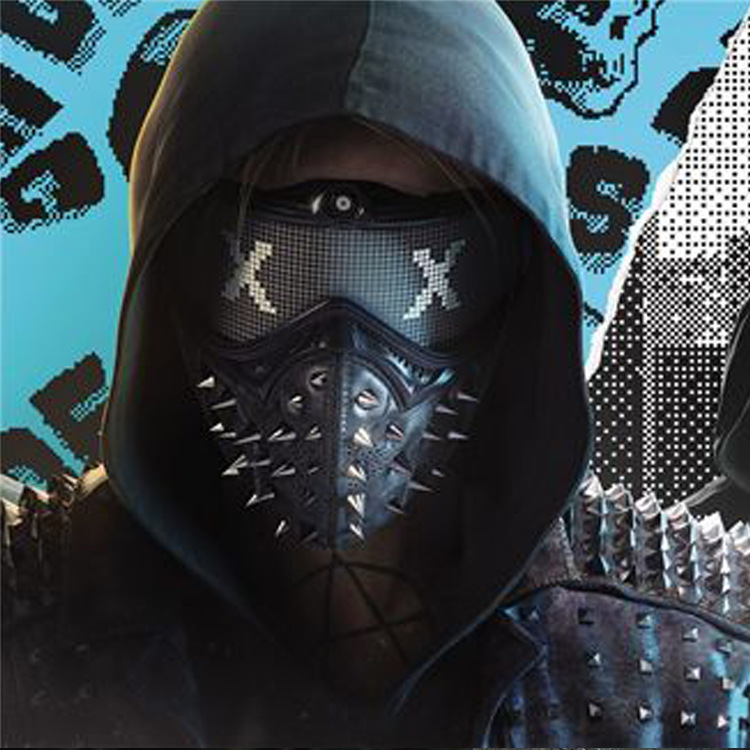 Watch Dogs 2 Punk Style Mask Halloween Carnival Dress Up Props Adult Masquerade Cosplay Mask Rock Masks