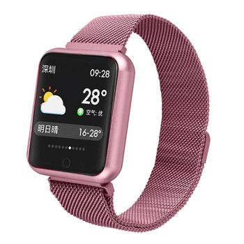 2018 P68 Smart Watch Men Women IP68 Blood Pressure Oxygen Heart Rate Monitor Watch Steps Calories Mileage Tracker Smartwatch