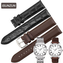 ISUNZUN is suitable for  Tissot T033 classic series T033.410 Leather Watchband 19MM thin watchband