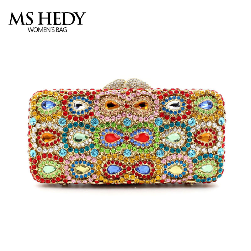 Luxury Crystal Rhinestone Bowknot Pattern Full Women Evening Bag Casual Metal For Party and Wedding Clutch Purse and Handbag luxury crystal clutch handbag women evening bag wedding party purses banquet