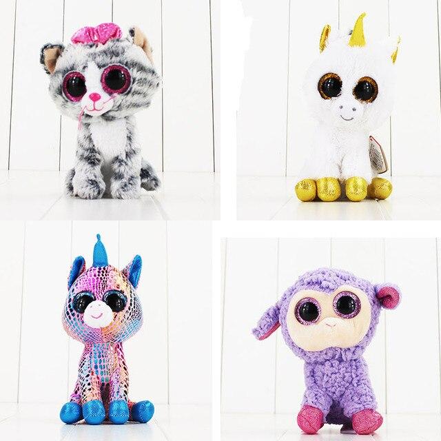 Ty Beanie Boos Plush Toys Beanie Babies Big Eyes Precious Pippie White Dog  Lavender Purple Lamb e081ed3d7a06