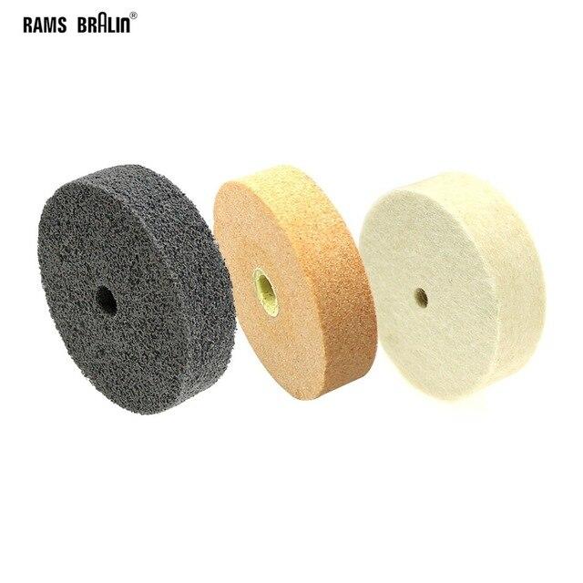 "3 pieces 3"" Bench Grinder Grinding Wheel Ceramic Nylon Felt Polishing Wheels"