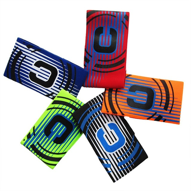 Capitán brazalete colorido de fútbol Flexible ajustable de deportes jugador bandas de fútbol profesional suministros