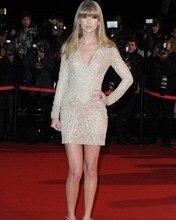 Heißer Verkauf V-ausschnitt Langarm Celebrity Kleider Über Mini Länge Cocktailkleider Neue Mode Abendkleid